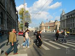 University Square, Bucharest (Classic Bucharest) Tags: street people architecture strada pedestrian streetscene scene romania pedestrians scena streetscape bucuresti piata universitatii oameni bulevardul arhitectura trecatori stradala
