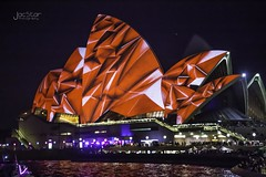 Red Opera (JacStar photography) Tags: city people colour canon boat cityscape photos harbour sydney australia lunapark operahouse harbourbridge sydneyharbour sydneyoperahouse sydneyskyline pictuers laserlight sydney2014