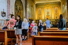 Selfie Stick (bhop) Tags: california santa vacation church fuji religion tourist barbara mission fujifilm stick selfie x100 nofriends vsco x100t fujifilmx100t
