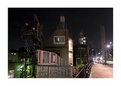 Night (mkel) Tags: road street city sky urban building japan night dark lights tokyo shibuya emptiness