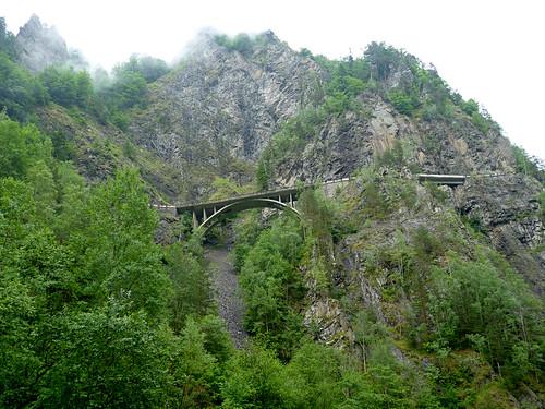 Transfagarasan road at Poienarii