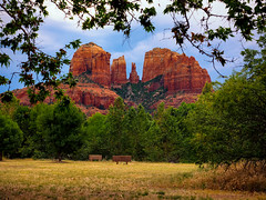 Framing Cathedral Rock (Jim Nix / Nomadic Pursuits) Tags: travel arizona southwest grandcanyon sedona olympus flagstaff mirrorless nomadicpursuits jimnix olympusomdem1