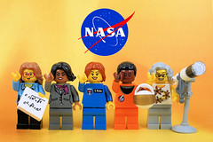 Women of NASA celebrating Women's Day (Lesgo LEGO Foto!) Tags: lego minifig minifigs minifigure minifigures collectible collectable legophotography omg toy toys legography fun love cute coolminifig collectibleminifigures collectableminifigure womensday womenday women day ladies lady internationalwomensday internationalwomenday womenscientist womenscientists scientist scientists