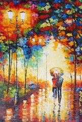 Walk with Me, Baby, Art Painting / Oil Painting For Sale - Arteet™ (arteetgallery) Tags: arteet oil paintings canvas art artwork fine arts colorful design acrylic color yellow wallpaper alley decoration texture shape graphic drawing orange backdrop november fractal element grunge artistic decorative bright light generated digital style frame symbol paper shiny ornament creativity swirl old render detail golden holiday couple love lover date cities buildings people portraits red