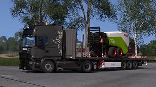Scania R580 + Krone Profi Liner Multi Steel SDP 27