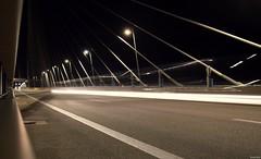 Rion-Antirrion Bridge traffic trails (KOSTAS PILOT) Tags: greece achaia peloponese patras rionantirrionbridge bridge night longexposure road lightbeams lighttrails nikon nikon3300 structure kostaspilot light ελλάδα πελοπόννησοσ αχαιασ πατρα γεφυραριουαντιριου γεφυρα δρομοσ φωτα νύχτα lines speed ταχύτητα pillars wires traffictrails