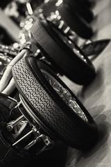 Behind The Wheel. (sdupimages) Tags: salon expo thursday bokeh paris retromobile voiture cars auto ferrari bw nb blackwhite noirblanc wheel monochrome mbt hmbt