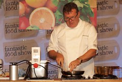 Chef Nigel Haworth at the Fantastic Food Show - cooking food (Tony Worrall Foto) Tags: show uk england food cooking fun fry fantastic year sunday may cook 4th lancashire blackburn event chef celeb cooks 19th potsandpans foodie lancs returned foodshow 2013 chefswhites haworths nigelhaworthsfantasticfoodshow