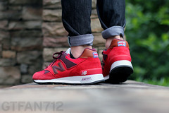 "New Balance 577 ""Country Fair"" - Red (GTFan712) Tags: new uk canon shoe 50mm shoes f14 sneakers made sneaker balance 577 newbalance countryfair madeinuk t2i newbalance577 gtfan712 577countryfair m577cfr"