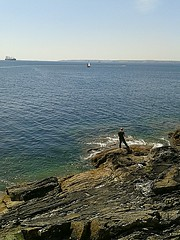 gone fishing (Mr B's Photography) Tags: sea fishing horizon falmouth pendennis flickrandroidapp:filter=none