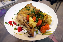 Moroccan Chicken and Vegetables on Couscous (Yortw) Tags: food chicken vegetables june lumix panasonic couscous moroccan panasoniclumix microfourthirds microfourthirdsmicro43 dmcg10 microfourthirds43