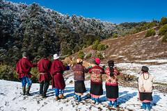 49_BTA8920 (David Ducoin) Tags: pink mountain snow hat forest asia dress bhutan drink traditional bluesky alcohol nomad himalaya bt landscap brokpa tashigang ducoindavid tribuducoin