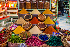 Spices in a Moroccan souk (guidoz) Tags: trip travel morocco spices marocco marrakech souk mercato viaggio arabmarket mercatoarabo arabspices