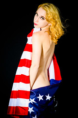 925 Photo 6/22/13 (reinekaos) Tags: red beauty nude blackwhite model glamour modeling patriotic lingerie redhead greeneyes nudity redhair reine kaos redbra boundoir reinekaos