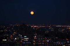 Balcony View (david55king) Tags: usa newyork newjersey moonrise hudson cliffsidepark david55king