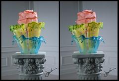 Three Tiers (Jack Long 3D) Tags: sculpture art gallery suspension fluid splash liquid highspeed jacklong