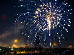 Explosions in the sky (briancparks) Tags: sky windmill night spectacular lights nikon texas fireworks dusk tx explosion july4th lubbock d600 americanwindpowercenter lubbockphotowalk