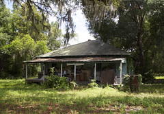 (farenough) Tags: county blue roof history abandoned architecture yard rural canon buildings square tin four photography eos photo junk photographer florida decay south historic explore southern forgotten rusted porch georgian cracker dslr exploration haint putnam