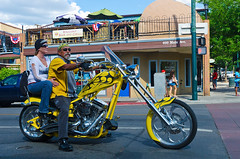 bikers, Durango (philippe*) Tags: street urban colorado harleydavidson durango bikers