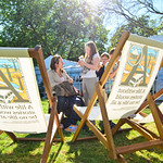 Deckchairs in the sunshine