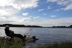Feeder fishing in Glomma (smund Isaksen) Tags: fall norway river fishing feeder chub september hst fiske glomma 2013