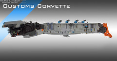ULTARAN CUSTOMS OFFICER CORVETTE (Pierre E Fieschi) Tags: fiction art ship lego pierre spaceship fi concept sci microspace fieschi microscale microspacetopia pierree shiptember