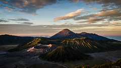 The Bromo. (Tiomax80) Tags: voyage park morning travel panorama sun sunlight max nature sunrise 35mm indonesia landscape volcano soleil java photo nice nikon asia flickr raw tour view fine award peak landmark visit tourist panoramic lookout best east mount national crater caldera asie southeast nikkor gunung paysage viewpoint 169 vue attraction bromo