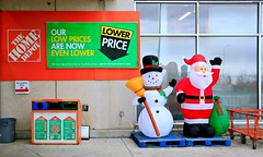 Our Low Prices are even LOWER!!! (Cindy's Here) Tags: santa christmas canada canon snowman winnipeg manitoba homedepot commercialism ansh scavenger9