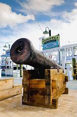 Cannon at Harbor Walk Marina (photographyguy) Tags: gulfofmexico boat fishing florida wharf cannon destin harborwalkmarina