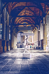 Balance with me (ArSalles) Tags: trip people holland art church netherlands amsterdam statue canon dark photography eos hall am europa europe mood cathedral euro details thenetherlands hallway 7d holanda balance inside nederlands vacations hdr nld eos7d canon7d