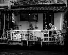 On the canal - Bangkok (Nathan A Rodgers) Tags: travel blackandwhite bw thailand asia southeastasia bangkok streetphotography countries streetscenes 2012 travelphotography