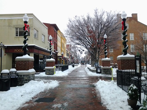 Snow in Old Town Winchester