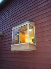 Unpainted garden window