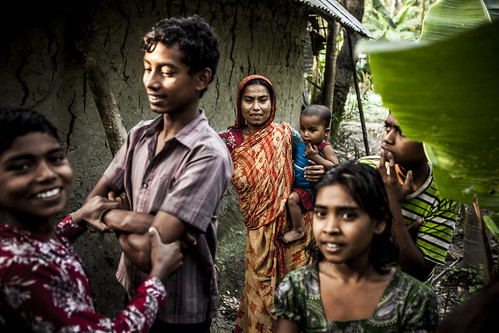 Villagers in Shaatkhira, Bangladesh. Photo by Felix Clay/Duckrabbit.