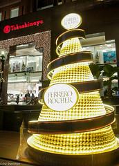 Ferrero Rocher Tree (h20tubig) Tags: christmas xmas decorations lights singapore orchard deco takashimaya 2013
