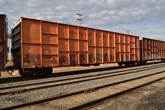 AOK 74508 (huntingtherare) Tags: train graffiti railcar freight woodchip rollingstock