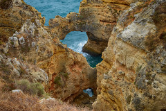 Arches 2 (rschnaible) Tags: ocean cliff color portugal coast sandstone colorful europe arch view south arches lagos atlantic southern western vista algarve rugged the