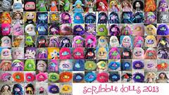The Scribble Dolls of 2013 (Scribble Dolls) Tags: art monster fur toy stuffed furry doll fluffy fluff plush softie stuffedanimal plushie cloth creature sewn scribbledolls