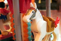 Project 365 #4: 040114 Crazy Horse! (comedy_nose) Tags: carousel project365 wintervillage 10235 legohorse