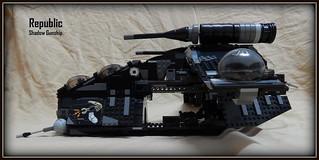 A Black Custom Gunship