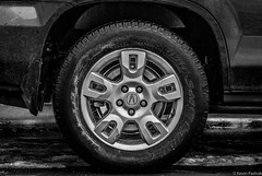 Taking a Break from Winter Driving (KWPashuk (Thanks for >3M views)) Tags: winter bw ice monochrome wheel nikon driving tire d200 rim acura nikkor70300mm kwpashuk kevinpashuk