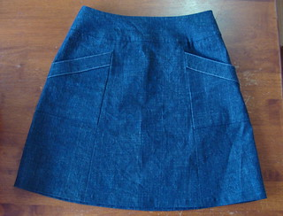 simplicity 2152 denim skirt