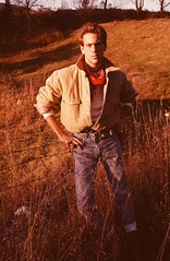 Cowboy Tommy (Cowboy Tommy) Tags: hot sexy vintage cowboy handsome wranglers crotch jeans western denim tight bandana levis package bulge lanky