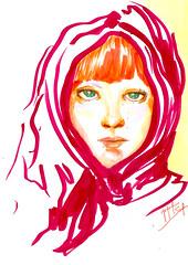 Sem título (Jaque Sampin) Tags: illustration mulher desenhos ilustração copic 2014 nanquim ilustrações ilustras hidrocor jaquelinesampin