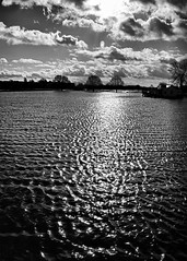 Cricket Ground (WorcesterKevin) Tags: blackandwhite monochrome blackwhite nikon worcestershire floods worcester