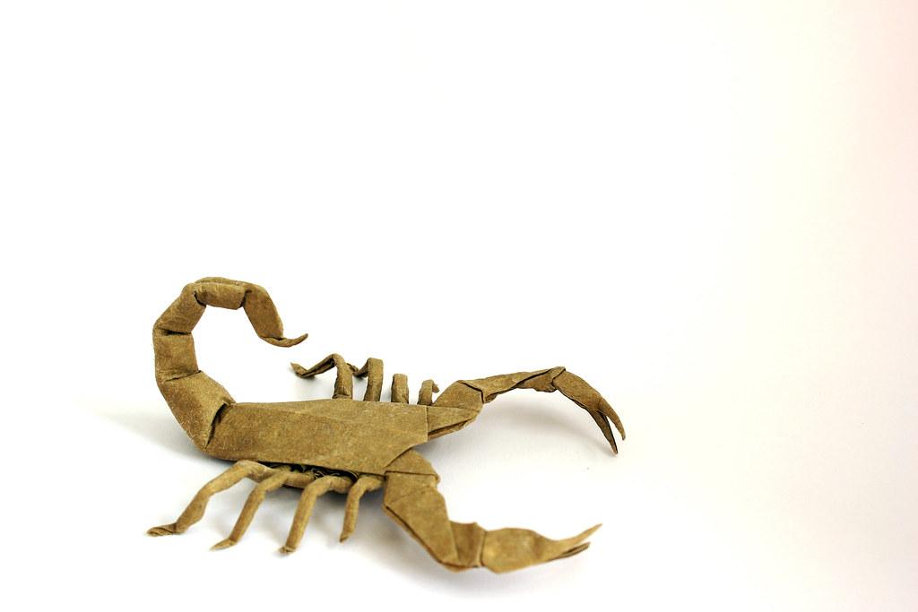 Scorpion Varileg Robert Lang Ivozanon Tags Paper Origami