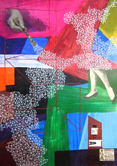 La mano (lahermanafieltrovitz) Tags: abstract art geometric geometrico colors collage illustration vintage painting spain artist acrylic legs surrealism modernism painter stitching doodles abstracto hairstyle modernismo ilustracion ilustracin dadaism malevich acrilico bordado dad dadaismo cromatism fieltrovitz