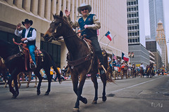 DSC_0004 (EdwardFotoLogue) Tags: street travel portrait people horse usa photography dance nikon cowboy downtown texas clown houston parade rodeo cheerleader clowns heehaw howdy 2014 d90