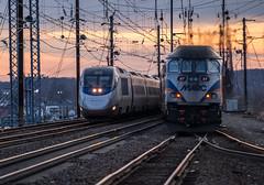 Amtrak 2124  Passes MARC inbound (MIDEXJET (Thank you for over 2 million views!)) Tags: unitedstatesofamerica maryland amtrak marc nec acela northeastcorridor perryville