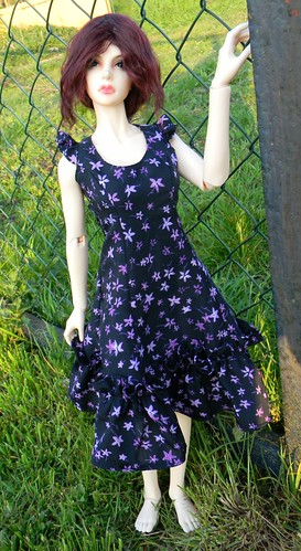 Purple Flowers Summer dress